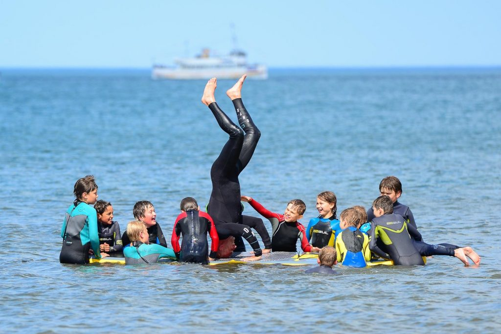 Kids having fun at Scarborough Kids Surf Club